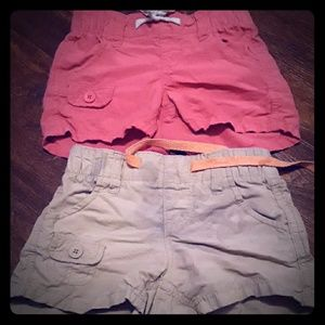 Girls Shorts Old Navy XS 5 - 2 Pair, Pink, khaki